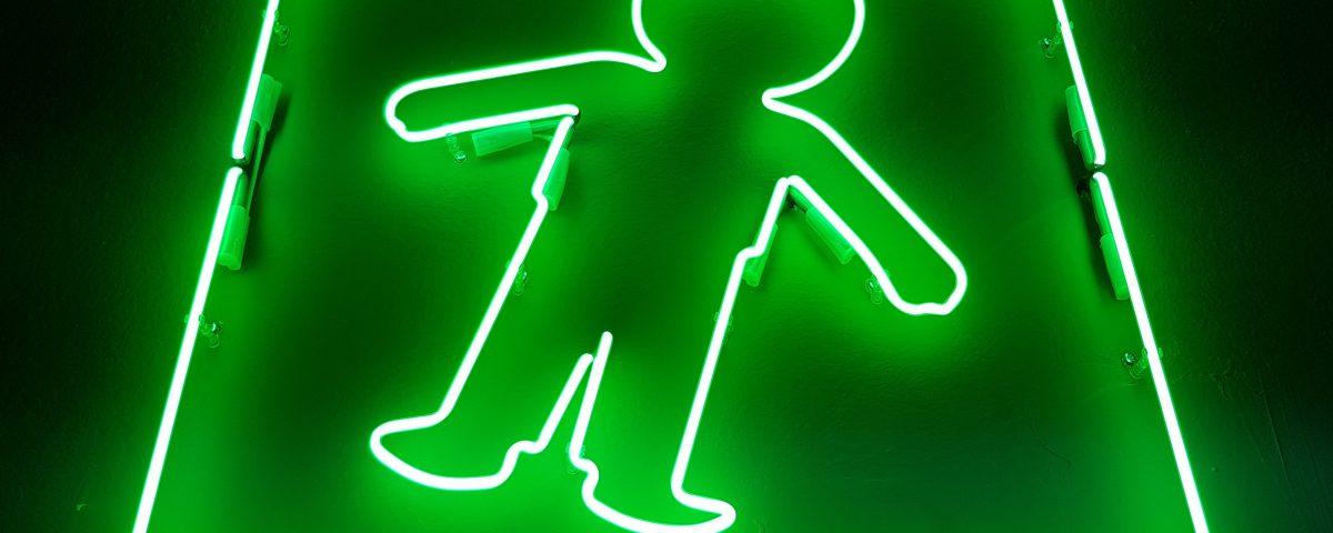 Neon ludek zielony